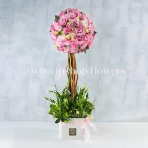 جعبه گل شماره 112- خرید گل لیسیان توس