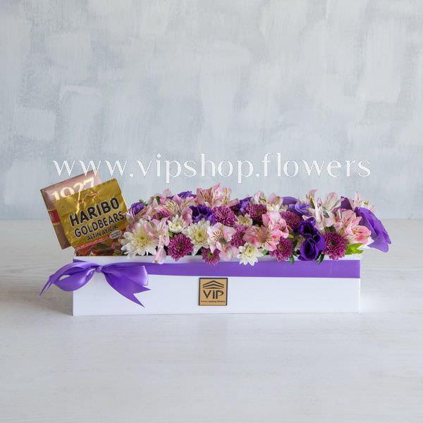 بسته گل و شکلات شماره 09