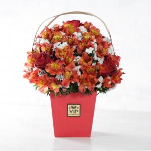جعبه گل آلسترومریا- گلفروشی آنلاین VIP Shop