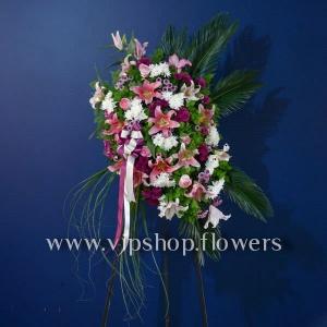 تاج گل یک طبقه تبریک
