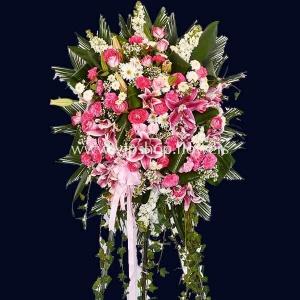 تاج گل پایه دار شماره ۰۱