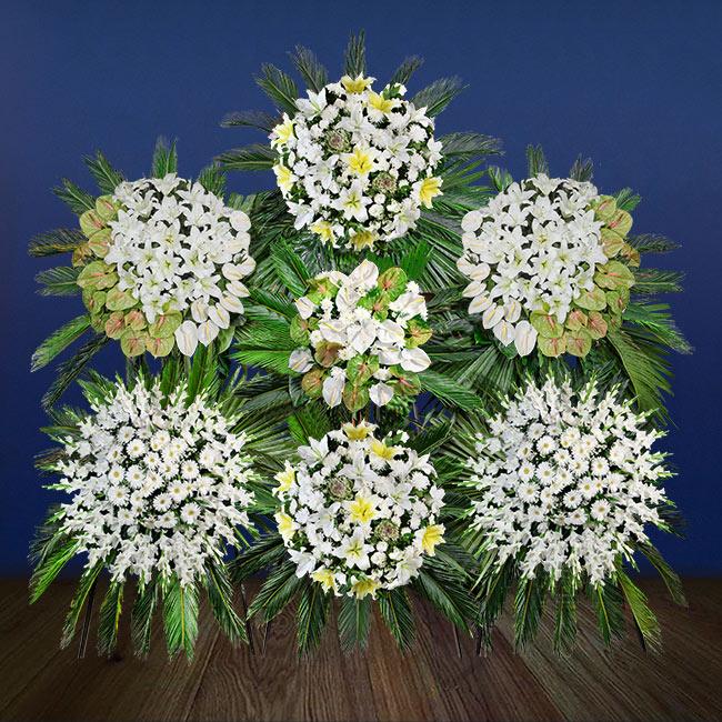 تاج گل پایه دار شماره ۱۹