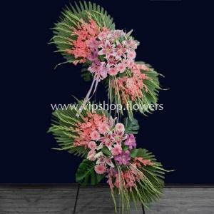 تاج گل پایه دار شماره ۲۱