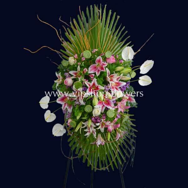 تاج گل پایه دار شماره ۲۸