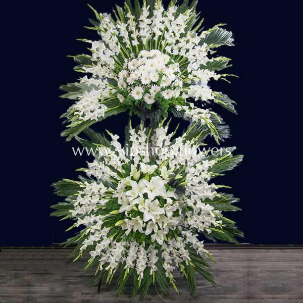 تاج گل پایه دار شماره ۰۸