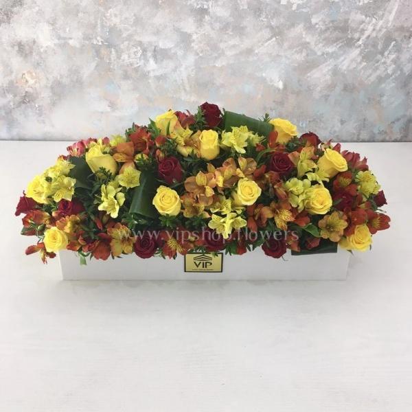 جعبه گل شماره 55- گلفروشی آنلاین VIP Shop