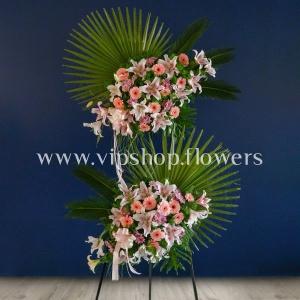 تاج گل دو طبقه تبریک