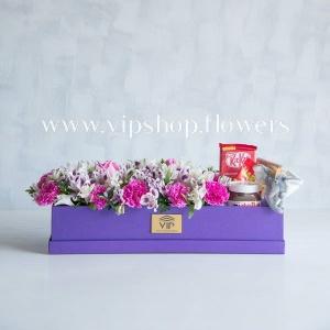 بسته گل و شکلات شماره 11