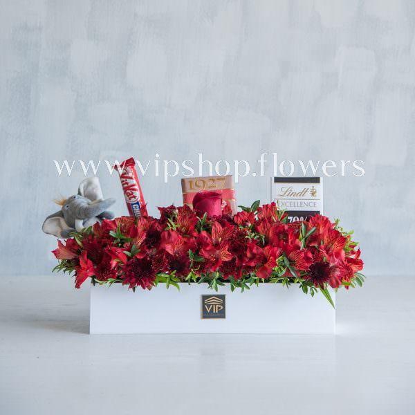 بسته گل و شکلات شماره 12