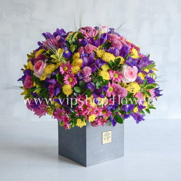 خرید باکس گل زنبق