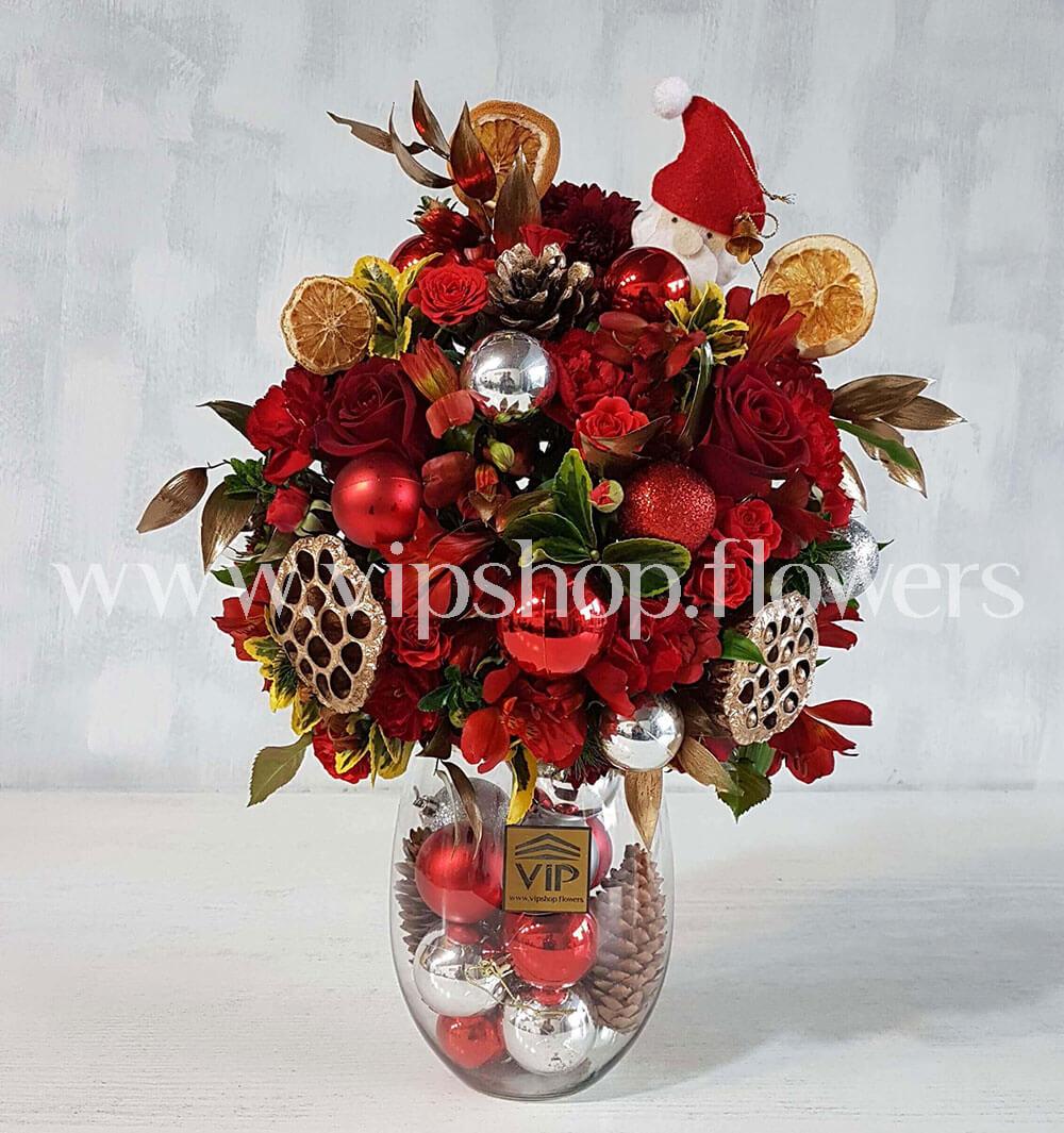 جعبه گل شیشه ای کریسمس شماره 5