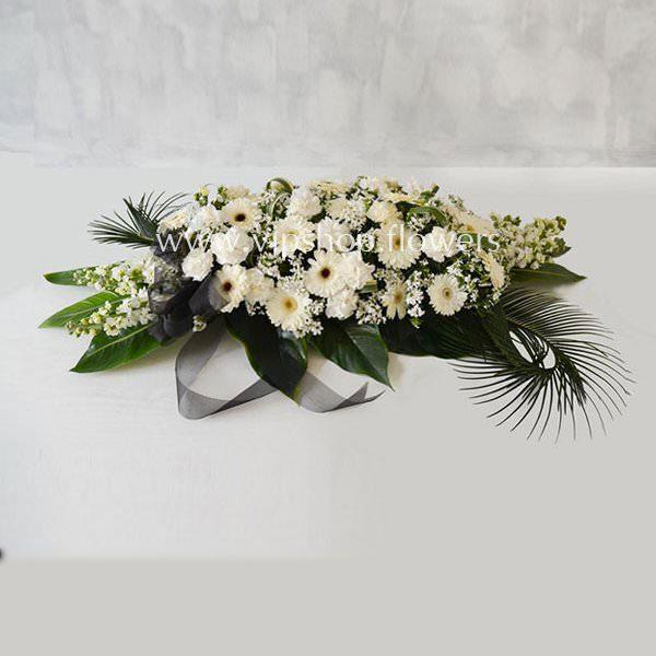 گل رومیزی ترحیم ژربرا میخک- گلفروشی آنلاین VIP Shop