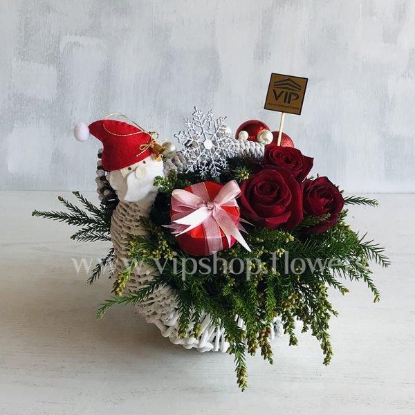 سبد گل کریسمس