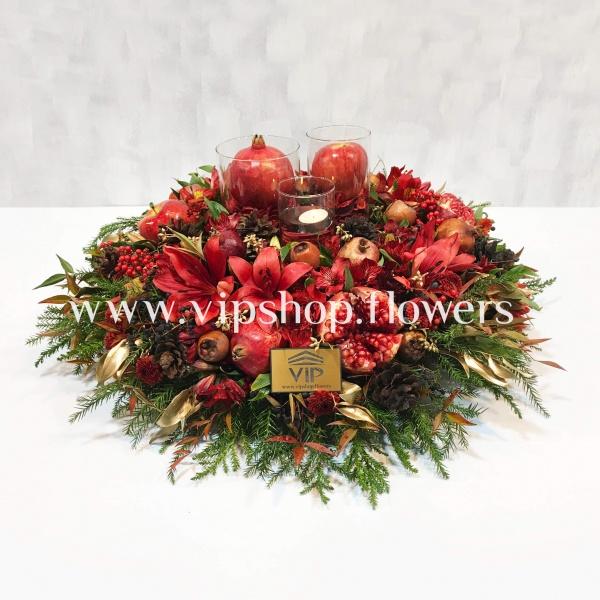 گل یلدا میز شام- گلفروشی آنلاین VIP Shop
