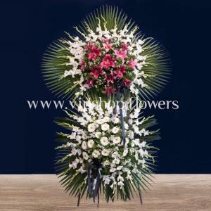 تاج گل پایه دار شماره ۰۷