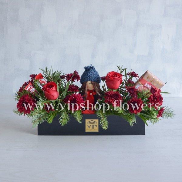 بسته گل و شکلات شماره 5 (ولنتاین)