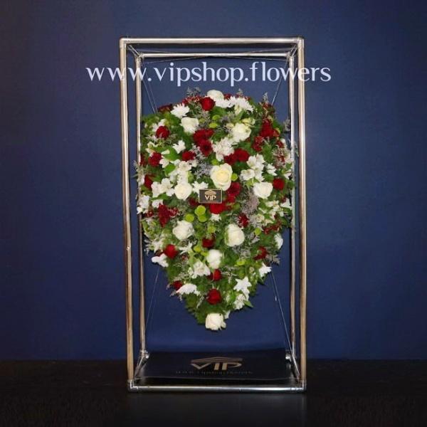 تاج گل معلق شماره 1- گلفروشی آنلاین VIP Shop