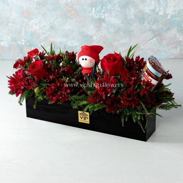 بسته گل و شکلات- گلفروشی آنلاین VIP Shop
