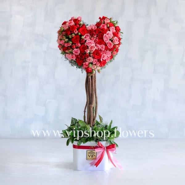 گل قلبی شکل