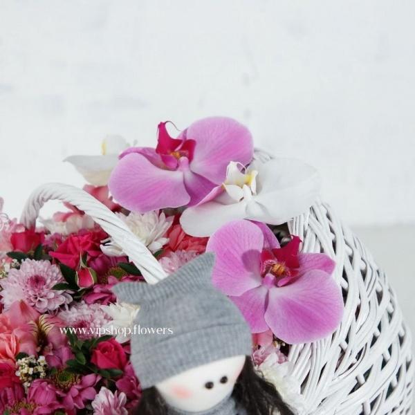 سبد گل نوزاد دختر- گلفروشی آنلاین VIP Shop
