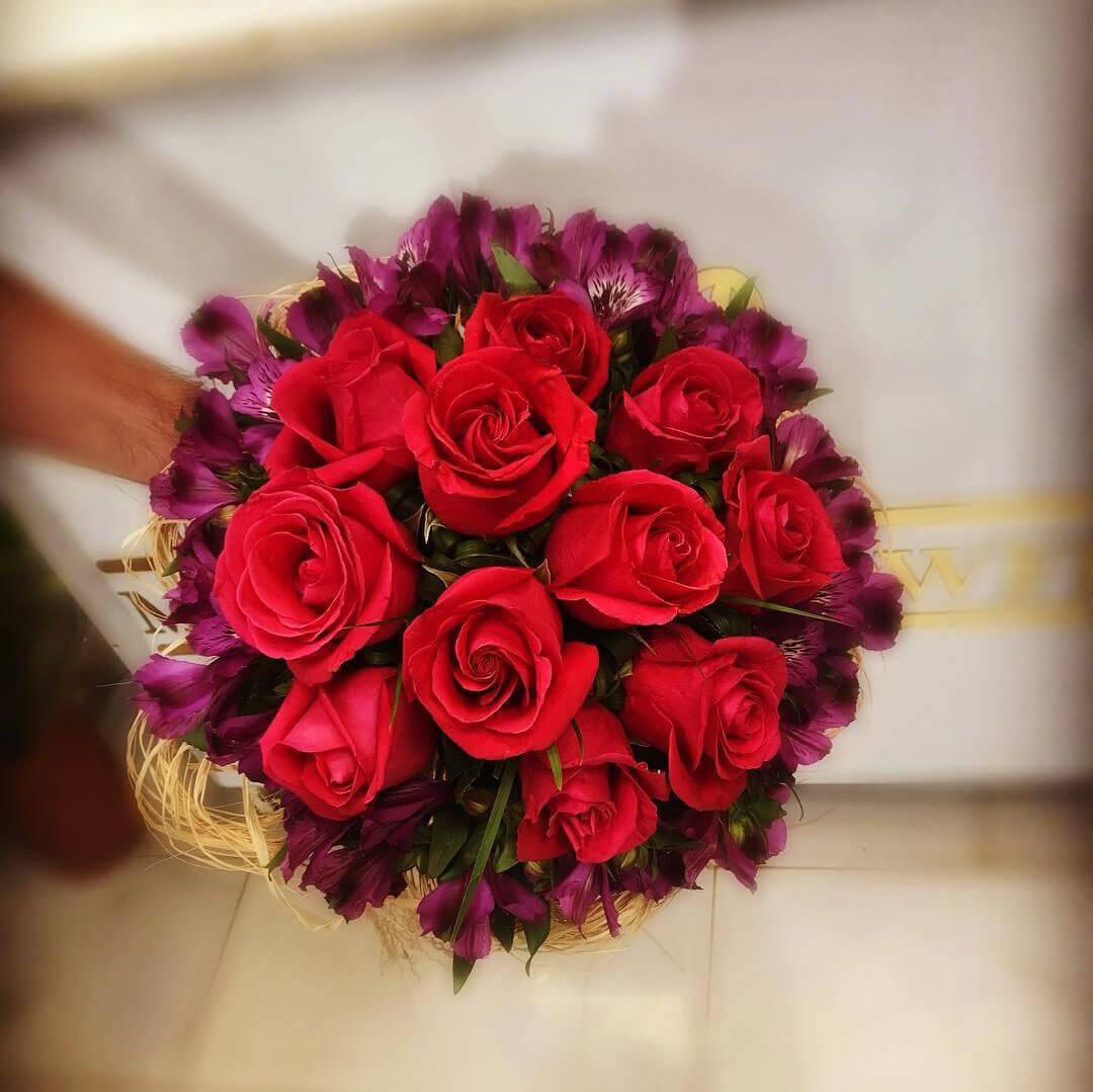 گل رز - دسته گل رز