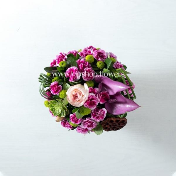 جعبه گل شماره 122- گلفروشی آنلاین VIP Shop