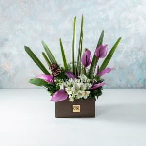 جعبه گل شماره 42- گلفروشی آنلاین VIP Shop