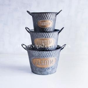 سطل فلزی مدل 1003 (ست سه تایی)