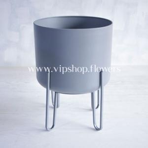 گلدان پایه فلزی مدل 1013 طوسی