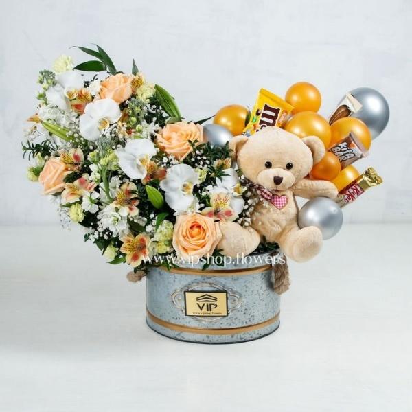 گل و عروسک ولنتاین- گلفروشی آنلاین VIP Shop