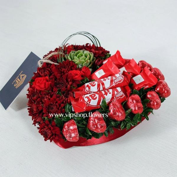گل ولنتاین رومیزی- گلفروشی آنلاین VIP Shop