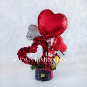 کادوی ولنتاین برای دختر- گلفروشی آنلاین VIP Shop