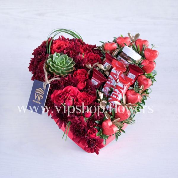 بسته گل و شکلات شماره 24