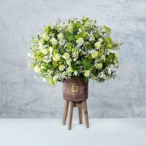 جعبه گل شماره 152- خرید گل داوودی