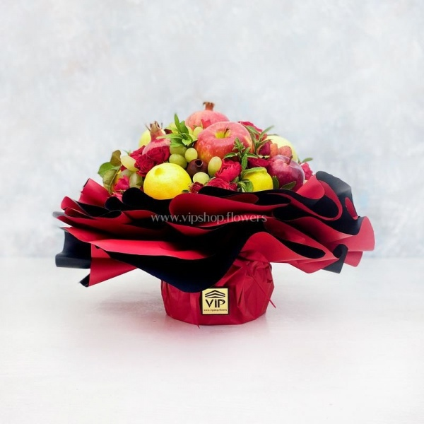 جعبه گل و میوه- گلفروشی آنلاین VIP Shop