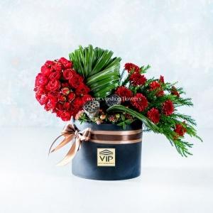 جعبه گل قلبی- گلفروشی آنلاین VIP Shop