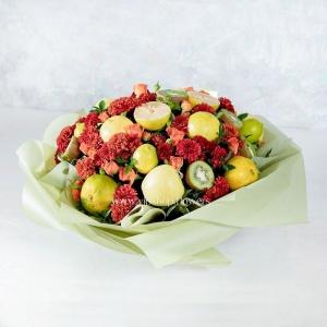 جعبه گل و میوه پاییزی- گلفروشی آنلاین VIP Shop