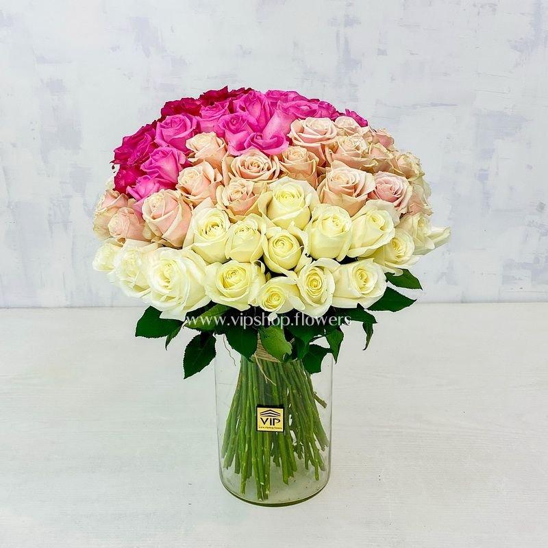 دسته گل رز 50 شاخه ای- گلفروشی آنلاین VIP Shop