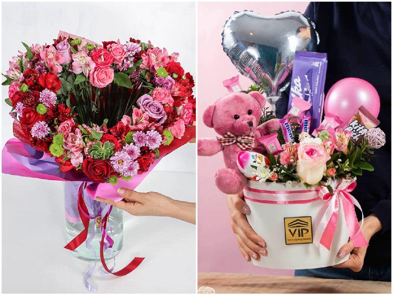 عکس تزیین گل برای تولد - گلفروشی آنلاین VIP Shop