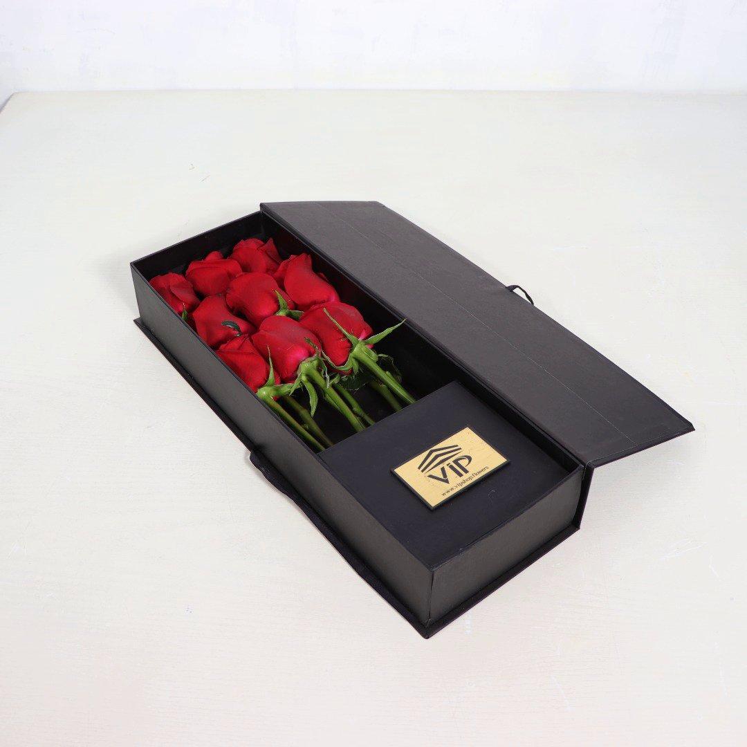 جعبه گل رز رمانتیک و عاشقانه