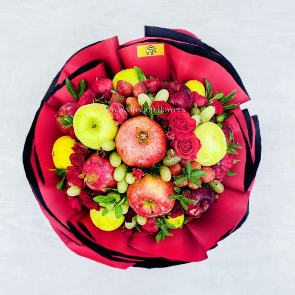 دسته گل و میوه